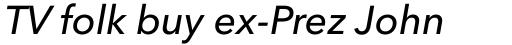 Avenir Next Pro Medium Italic sample