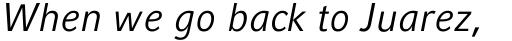 Compatil Fact Pro Italic sample