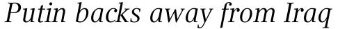 Compatil Text Pro Italic sample