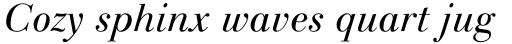 Linotype Gianotten Pro Light Italic sample