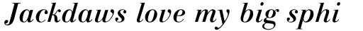 Linotype Gianotten Pro Medium Italic sample