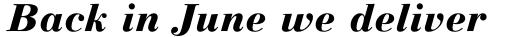Linotype Gianotten Pro Heavy Italic sample