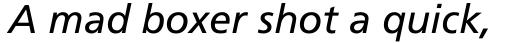 Frutiger Pro 56 Italic sample