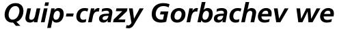 Frutiger Pro 66 Bold Italic sample