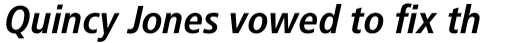 Frutiger Pro 68 Bold Condensed Italic sample