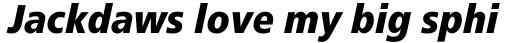Frutiger Pro 88 ExtraBlack Condensed Italic sample