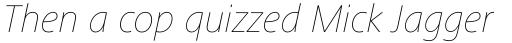 Frutiger Next Pro UltraLight Italic sample