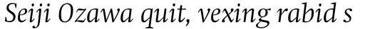 Swift Std Light Italic sample