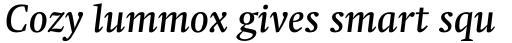 Swift Std Medium Italic sample