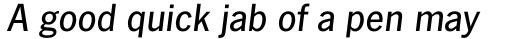 News Gothic No. 2 Std Medium Italic sample