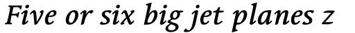 Linotype Syntax Serif Std Medium Italic sample
