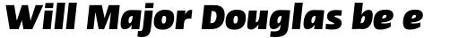 Linotype Ergo Pro Black Condensed Italic sample