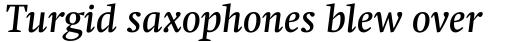 Swift Pro Medium Italic sample