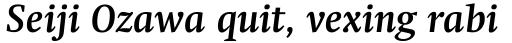 Swift Pro Bold Italic sample