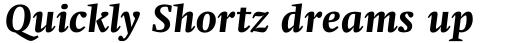 Swift Pro Heavy Italic sample
