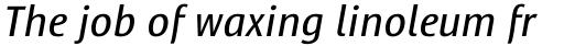 Satero Sans Pro Italic sample