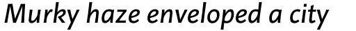 Linotype Projekt Pro Italic sample