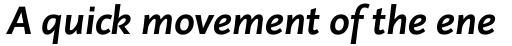 Linotype Projekt Pro Bold Italic sample