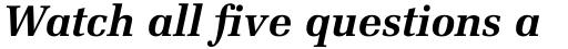 Melior Pro Bold Italic sample