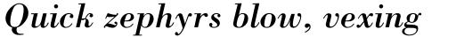 Bodoni Pro Italic sample