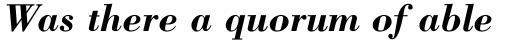 Bodoni Pro Bold Italic sample