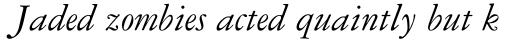 Garamond #3 Pro Italic sample