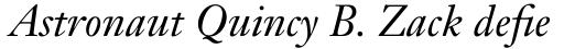 Janson Text Pro 56 Italic sample