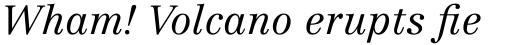 Linotype Centennial Pro 46 Light Italic sample
