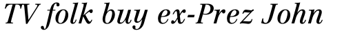 Linotype Centennial Pro 56 Italic sample