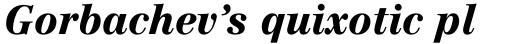 Linotype Centennial Pro 96 Black Italic sample