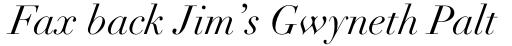 Didot LT Pro Italic sample
