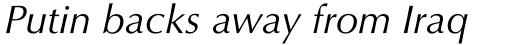 Optima Pro Italic sample