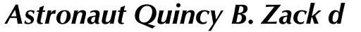 Optima Pro Bold Italic sample