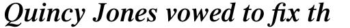 Times Pro SemiBold Italic sample