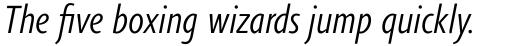 Agilita Pro Condensed Light Italic sample