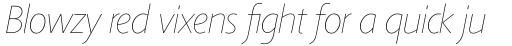 Agilita Pro UltraThin Italic sample