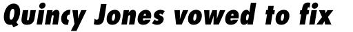 Futura Pro Condensed ExtraBold Oblique sample