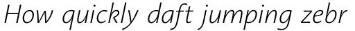 Aroma No. 2 Pro ExtraLight Italic sample