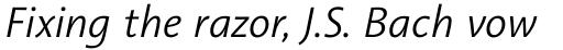 Aroma No. 2 Pro Light Italic sample
