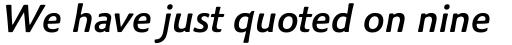 Palatino Sans Pro Medium Italic sample