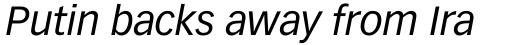 Vectora Pro 56 Italic sample