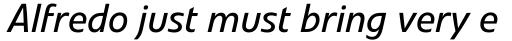 Veto Pro Italic sample