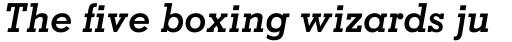 Memphis Pro Bold Italic sample