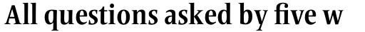 Frutiger Serif Pro Condensed Bold sample