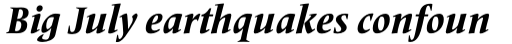 Frutiger Serif Pro Condensed Heavy Italic sample
