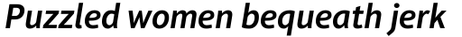 Aptifer Sans Pro SemiBold Italic sample