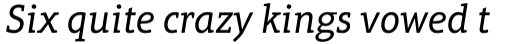 Aptifer Slab Pro Italic sample