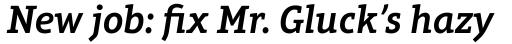 Aptifer Slab Pro SemiBold Italic sample