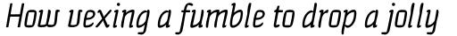 Quench Pro Italic sample
