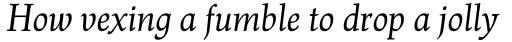 Renner Antiqua Pro Italic sample